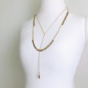 layered y-chain necklace